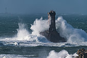 La Vieille Lighthouse on the Gorlebella Rock, Finistère, Brittany, France