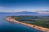 Cliff of Cap Blanc-nez at sunset, Escalles, Hauts de France, France
