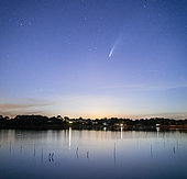 Comet Neowise in Brittany, France