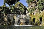 Fontana dell'Ovato or Oval Fountain, Garden of the Villa d'Este, UNESCO World Heritage Site, Tivoli, Lazio, Italy, Europe