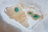 Ojos del Mar, Tolar Grande, La Puna, Aerial View, Argentina, South America, America