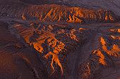 Landscape in Desierto del Diablo, Los Colorados, Tolar Grande, La Puna, Argentina, South America, America