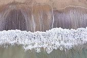Ressac sous la Colline de Majaguas, belvédères du Pacifique, village de Lo de Marcos, Riviera Nayarit, océan Pacifique, État de Nayarit, Mexique