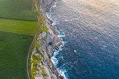 Aerial View, Langre beach, Langre, Ribamontan al Mar Municipality, Cantabria, Cantabrian Sea, Spain, Europe