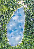 Corbeaux Lake in summer, Vosges, France