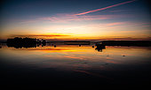 Sunset at Larmor Baden in the Gulf of Morbihan, Brittany, France