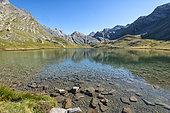 Lauzanier Lake, Ubaye Valley, Alps, France