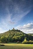 Waldeck Castle in summer, Moselle, France