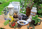 Atmosphere old-fashioned remedies and medicines, wellness treatments