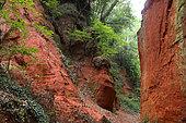Ochre quarry of Mormoiron, Mont Ventoux, Provence, France