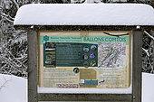 Sign Reserve naturelle des Ballons Comtois, snow, winter, Ballon d'Alsace, Territoire de Belfort , France