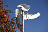 Horizontal axis wind turbines, experiment, Col des Bagenelles, Le Bonhomme, Haut-Rhin, France