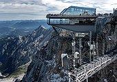 The viewing platform on the Zugspitze, Garmisch Patenkirchen, Bavaria, Germany, Europe