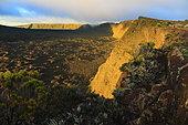 Volcanic landscape of the Piton de la Fournaise, Reunion Island