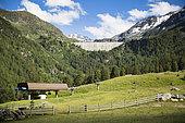 Super Nendaz ski resort and Cleuson dam in summer, Valais, Switzerland