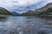 Bissorte lake at dusk, Maurienne massif, Savoie, France