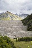 Embankments of the Grand'Maison Dam, Vaujany, Isère, France