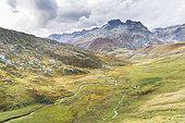 Landscape between the Col de La Croix de Fer and the Col du Glandon, Savoie, France