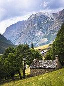Hamlet of Maljasset, Saint Paul sur Ubaye, Haute Ubaye, Alpes de Haute Provence, France