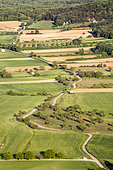Agricultural landscape around Saint-Julien-le-montagnier, Var, PNR Verdon, France