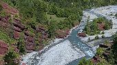 The Var river in the Gorges de Daluis, Mercantour National Park, Alps, France