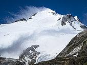 Ski slopes on the Grande Motte glacier, GR5 trail, PN Vanoise, Alps, France