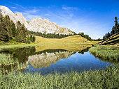 Lac Miroir, GR5 trail, PNR Queyras, Ceillac, Alpes, France