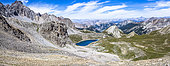 Lake Sainte Anne from the Girardin pass, GR5 trail, Queyras, Alps, France