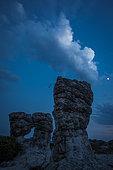 Les Mourres de Forcalquier, limestone erosion figures, Provence, France