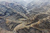 Canyon Barranco de la Negra, near Alajero, drone image, La Gomera, Canary Islands, Spain, Europe