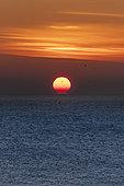 Sunset over the sea, Audinghen, Pas-de-Calais, France