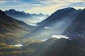 View from Muottas Muragl, Upper Engadine, Grisons, Switzerland, Europe