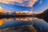 Mont-Blanc and its reflection, Alps, France
