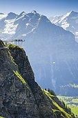 Schreckhorn, 4078 m, First Cliff Walk, Switzerland, Europe
