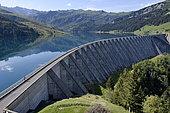 Roselend dam, Haute Savoie, Alps, France