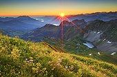 View from the Brienzer Rothorn, Switzerland, Europe