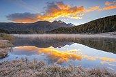 Lej da Staz, Upper Engadine, Grisons, Switzerland, Europe