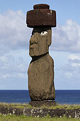 Tahaï, Unique Moaï with eyes. Rapa Nui, Easter Island, Chile