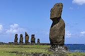 Moaï of the Ahu of Tahai Hanga Roa, Easter Island, Chile