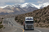 Truck at 4500 m on the Chile - Bolivia road. Altiplano & puna, Chile