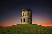 Solomons Temple, Buxton, UK. Solomons Temple lit by the moon in the Peak District, UK.