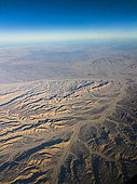 Sahara desert with dry riverbeds, Sohag governate, Egypt.