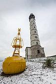 Calais lighthouse in winter, Pas de Calais, France