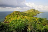 The northern tip of the island Grande-Terre with the Baie de Handréman, Mayotte, Africa