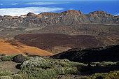 Cañadas del Teide and Alto de Guajara from Montaña Blanca.Teide National Park, World Heritage Site, Tenerife. Canary Islands.