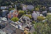 Townscape of Nonza, Cap Corse, Haute-Corse, Corsica, France, Europe