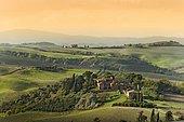 Hilly landscape, Crete Senesi, Tuscany, Italy, Europe