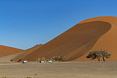 Sossusvlei dunes, Namib Erg listed as UNESCO World Heritage, Namib-Naukluft National Park, Namib Desert, Hardap region, Namibia
