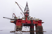 The West Eclipse is a 6th generation ultra-deepwater semi-submersible drilling rig with operational history offshore Africa, in maintenance at Walvis Bay, Walvis bay, Namibia, Africa