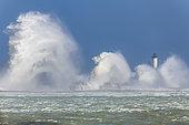 Carnot Dyke under the storm, Opal Coast, Boulogne-sur-Mer, Hauts-de-France, France